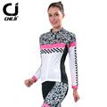 2016 Cheji Women Cycling Clothing Long Sleeve Bike Clothing Autumn Bicycle Clothes New Female Cycling Kit