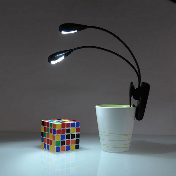 Amazing Adjustable Goosenecks Clip on LED Lamp for Music Stand and Book Reading Light(China (Mainland))