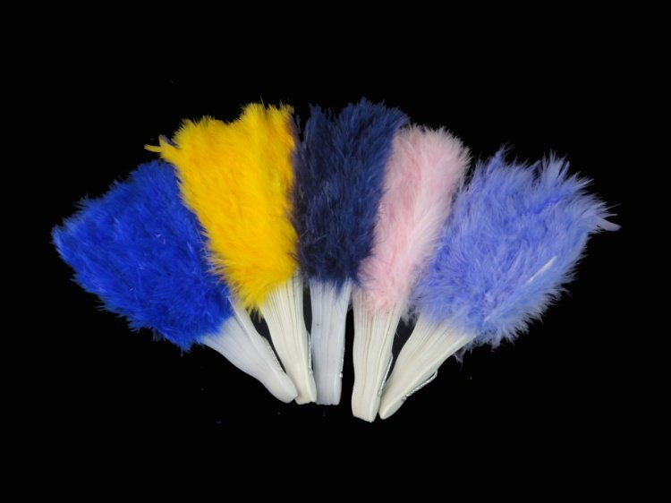 Free shipping!!!!FLUFFY FEATHER HAND FAN FOR STAGE COSTUME PARTY MIXED COLOR(China (Mainland))