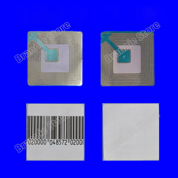 20000pcs/lot 8.2mhz EAS RF soft label for supermarket alarm gate rf security soft tag checkpoint 40*40mm free shipping(China (Mainland))