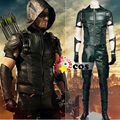2015new Green Arrow season 4 Cosplay Costume Superhero Oliver Queen green arrow leather costume Halloween costumes