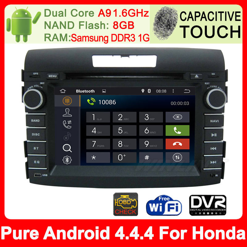 Dual Core Pure Android 4.4.4 Car DVD GPS For Honda CRV CR-V 2012 2013 2014 Auto PC Radio Built-in WiFi Support DVR Built-in WiFi(China (Mainland))
