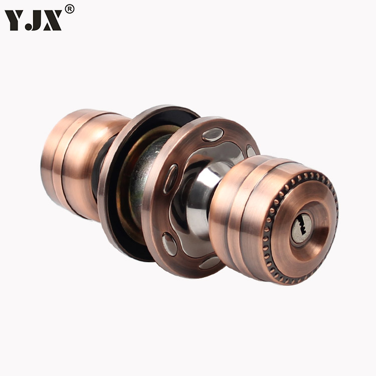 Spherical ball lock upscale interior door room door handle lock red circle bronze door knob lock round<br><br>Aliexpress