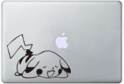 animation Poke mon Pika chu sleep Notebook Sticker for Macbook Air 11 12 13 Pro 13 15 17 Retina Tables sticker PVC sticker