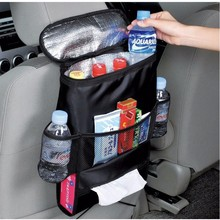 Auto Car Food Storage Container Stowing Tidying Mesh Pocket Back Seat Cover Hanging Bag Diaper Bag For Baby Car Seat Organizer(China (Mainland))