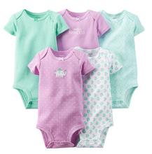 5 pcs pack Original Carters Baby Boys and Girls Bodysuits Summer Autumn 100 Cotton Diaper Bodysuit