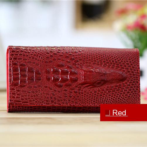 Гаджет  Fashion upscale women wallets creative crocodile texture leather card holders clutch wallet for women free shipping None Камера и Сумки