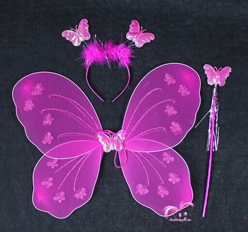 2018 wholesale birthday party decoration butterfly wing for Butterfly wands wholesale