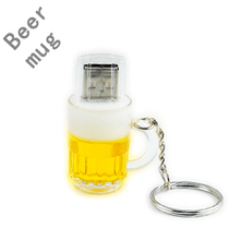 Fashion special beer mug model usb flash drive beer glass pendrive 8gb 16gb 32gb memory stick pen drive USB 2.0 thumb drive(China (Mainland))