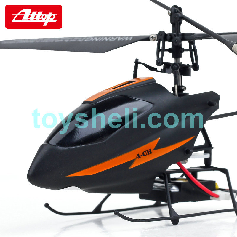 Free shipping Attop YD-917 singal blade 2.4G 4CH RC helicopter with Gyro better than MJX F48 WLtoys V911(China (Mainland))
