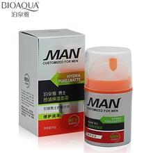 2016 Men Skin Care Brand BIOAQUA Hydrating Moisturizing Oil-control Whitening Face Cream Anti Wrinkle Anti-Aging Day Cream 50g