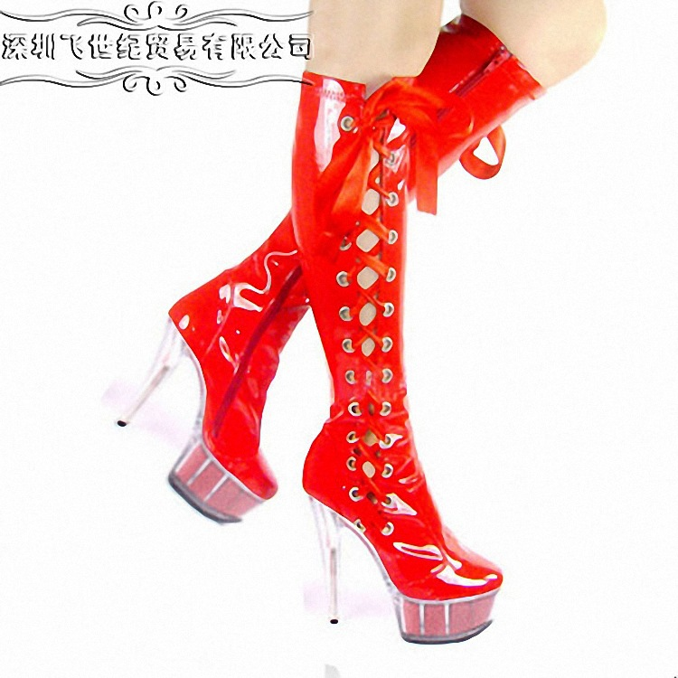 FLY- bride wedding photography shoes boots hollow red ribbon 15 cm color core bottom high boots boots special offer<br><br>Aliexpress