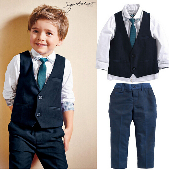 2015 spring New Arrival Boys Gentleman Clothing Sets kids boys Short-sleeve T-shirt+bib pant two pieces clothing sets(China (Mainland))