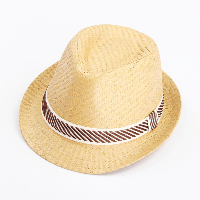 Classic Baby Boy Summer Straw Cap Children Fedora Hat Kids Straw Cowboy Hat Photo Show Infant Top Hat Head Wear BH0595(China (Mainland))