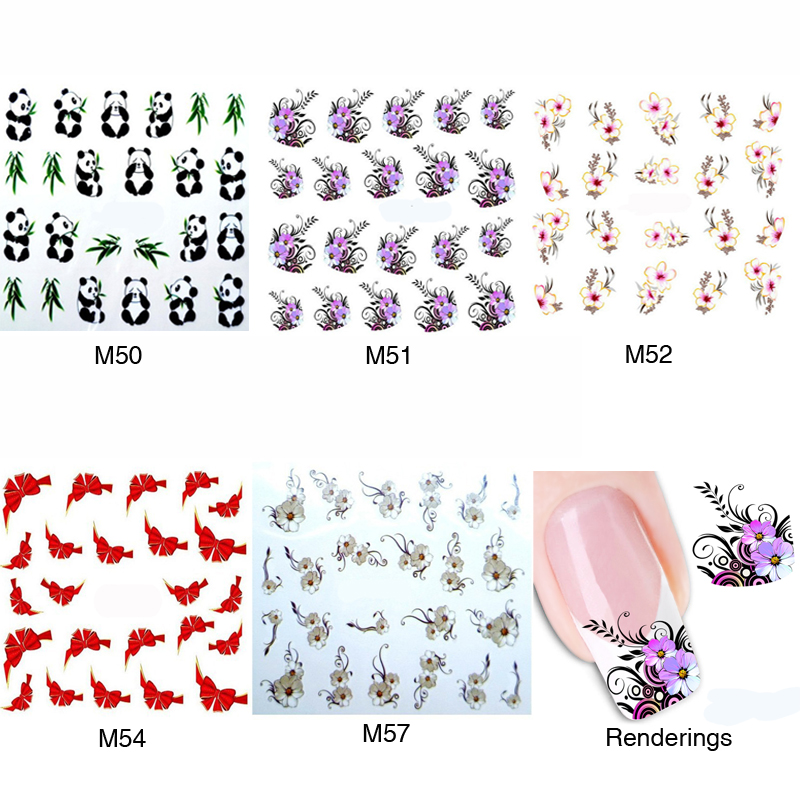 5Pcs 3D Water Transfer Nails Sticker Nail Art Water Decals Stickers For Nail Decoration Tools Nails Stickers Manicure For Women(China (Mainland))
