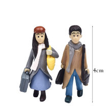 1set Sweety Lovers Couple Chair Figurines Miniatures Fairy Garden Gnome Moss Valentine's Day Gift Resin Crafts Home Decoration(China)