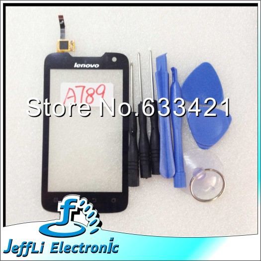 10pcs/Lot Wholesale Original Touch Screen Touchscreen Digitizer Glass Replacement For lenovo A789 + Open Tools