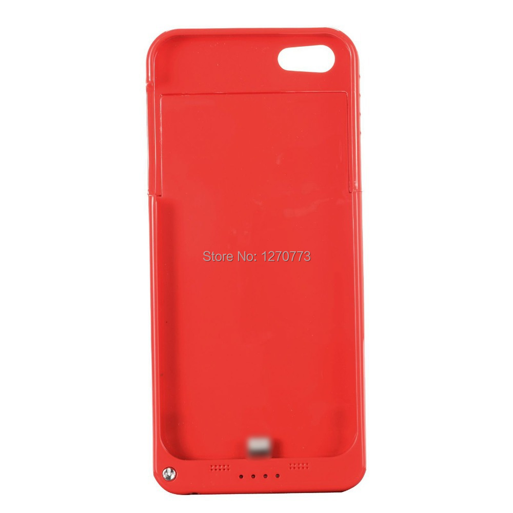 2200mAh Portable External Power Case for iPhone 5/5S with Kickstand Red Power Bank for iPhone External Battery Case(China (Mainland))