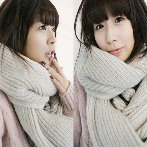 2013 autumn and winter general ultra long thickening lovers design yarn knitted scarf muffler scarf(China (Mainland))