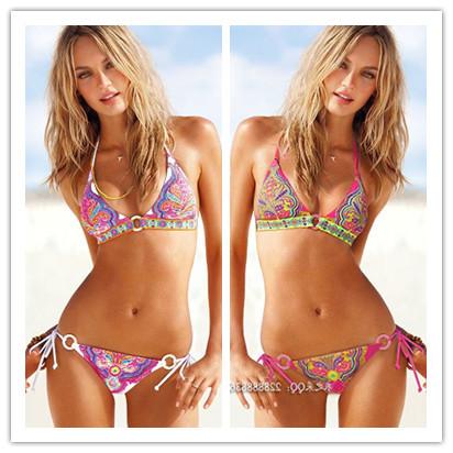 Fashion hot-selling tuwen - sexy push up bikini split 2 female hot spring swimwear