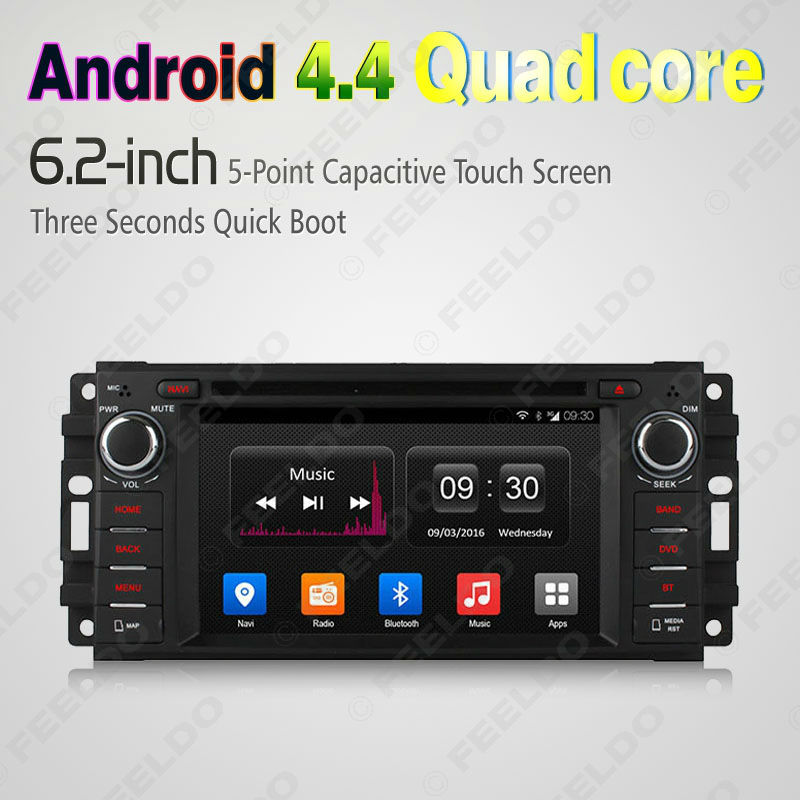 "6.2"" Android 4.4.4 Quad Core Car DVD GPS Radio For Jeep Liberty/Patriot/Grand Chrokee/Wrangler #CA2451(China (Mainland))"