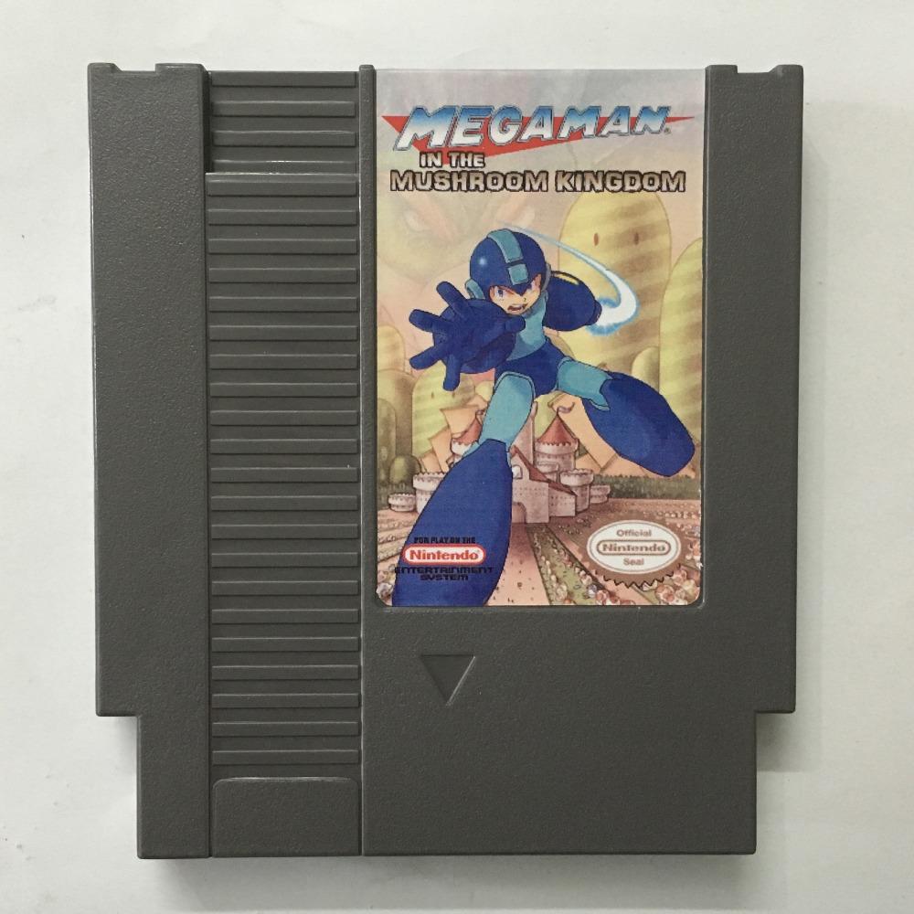 Megaman In the Mushroon kingdom 72pin 8bit Game card Free shipping