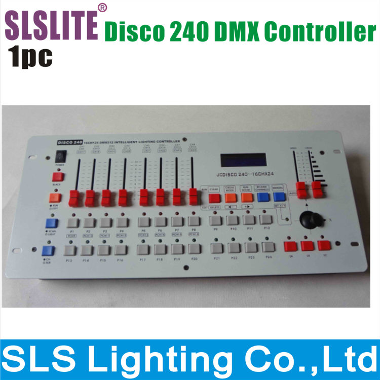 Disco 240 DMX controller for stage lighting 512 dmx 240 console DJ controller equipment dmx dj disco lighting console(China (Mainland))