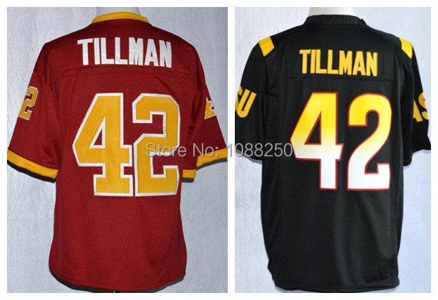 Pat Tillman Arizona State Sun Devis (ASU) 1997 Rose Bowl College Football Jerseys,Pat Tillman 42 jersey,size 48-56,Free Shipping(China (Mainland))