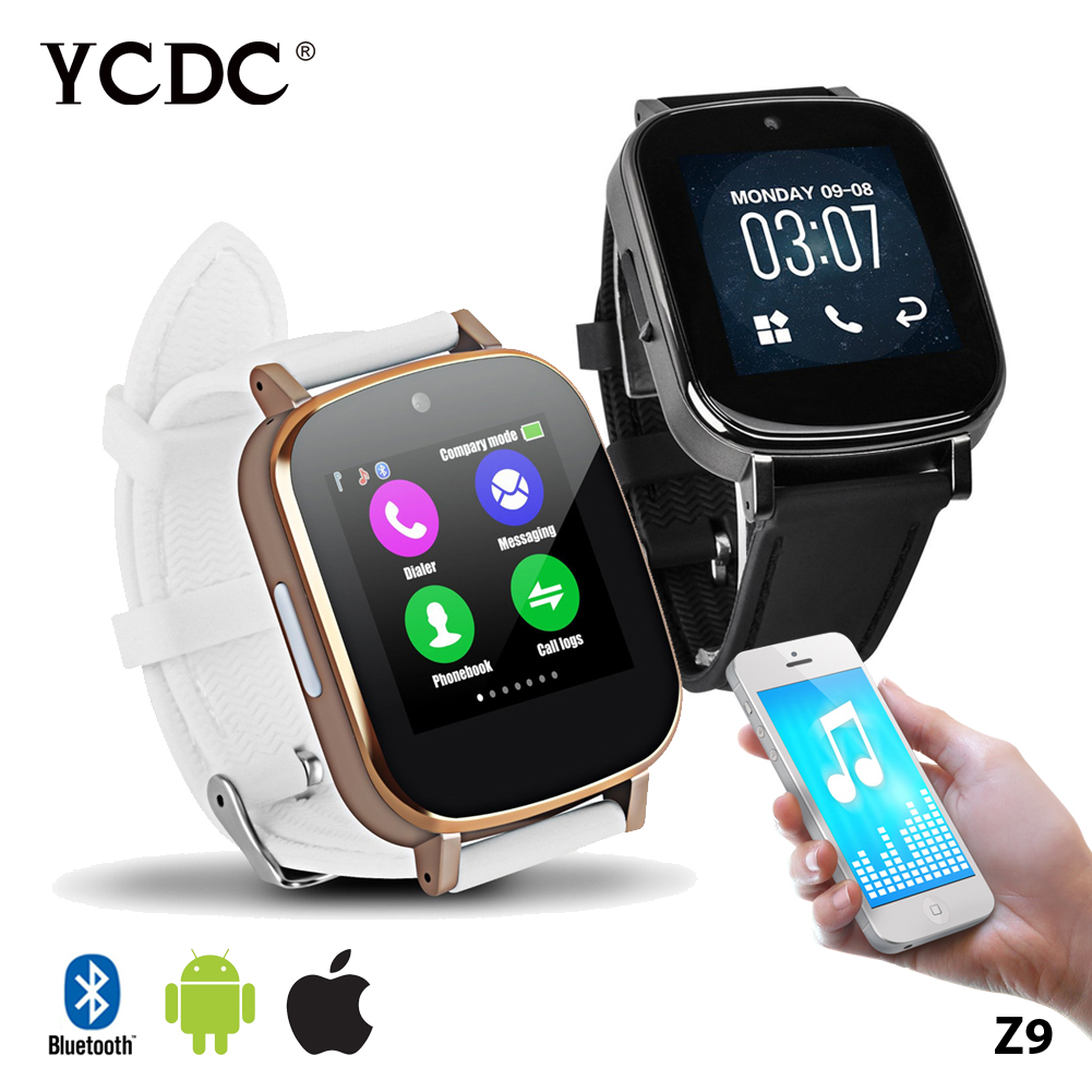 Smartwatch Z9 Bluetooth Wristwatch for Apple iPhone IOS Android Phone Intelligent Clock Watch With Camera Pedometer Mp3 Mp4(China (Mainland))