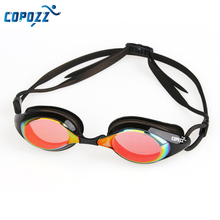 Men Women Copozz anti uv fog Protection Swim Goggles Plating Mirrored Swimming Glasses Waterproof for Adults Sport(China (Mainland))
