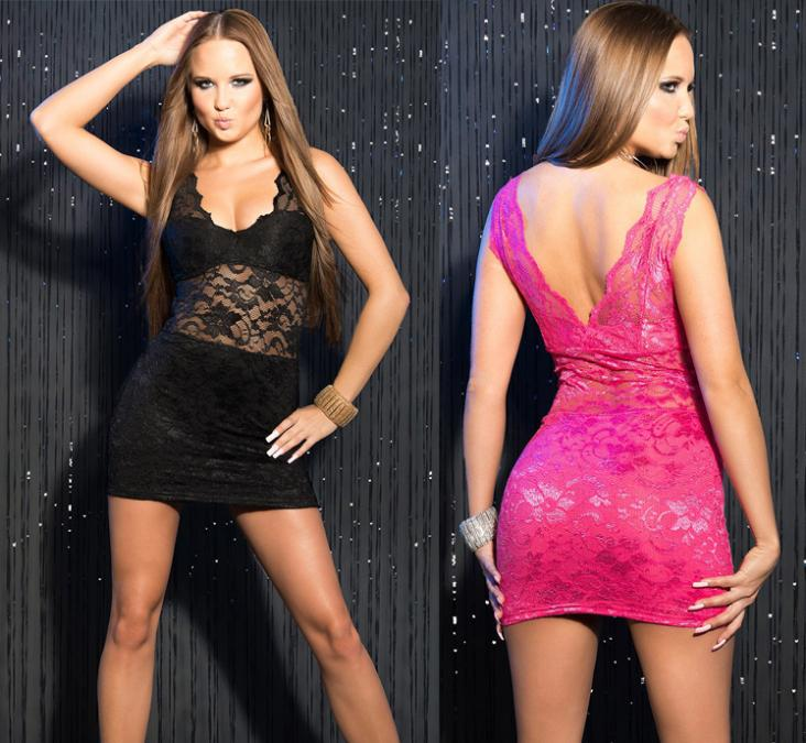 Images of Hot Pink Club Dress - Reikian