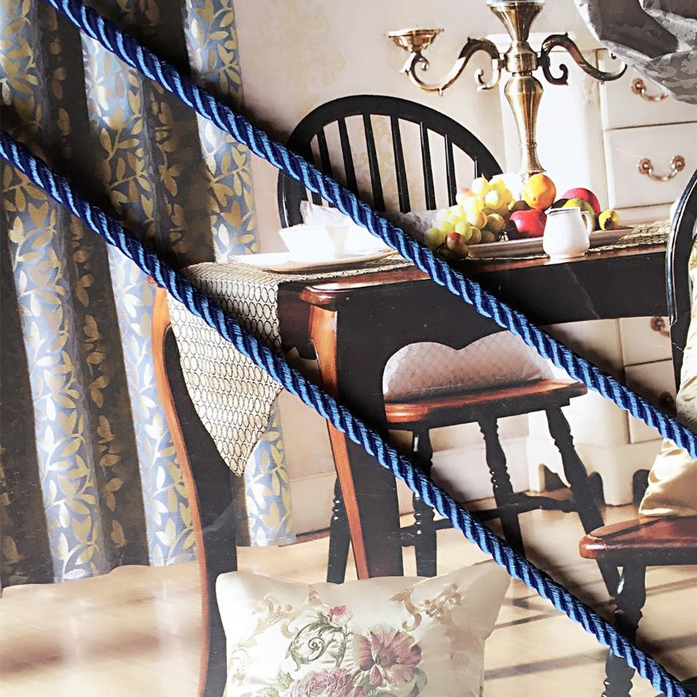2016 High-grade Sofa Pillow Cord Three Strands of Blue Rope Decorative Accessories 6mm Diameter(China (Mainland))