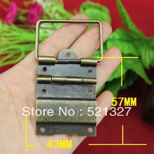 Antique Hinge even iron wire hinge brace hinge large wooden wine packaging hinge connecting wire 43 * 57(China (Mainland))