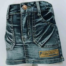 3-7Y Kid Girls Antique wash Jean cloth Skirt Brassiness Button letters embroidery children's Denim skirt 2016 MH9116