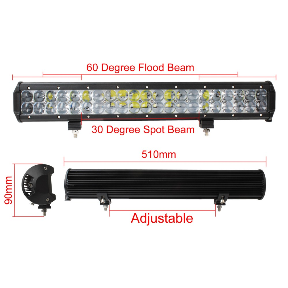20 Inch High Intensity and High Quality 210W LED Light Bar Combo Beam Car Work Light 4WD Off-Road Driving Lamp(China (Mainland))