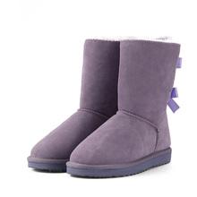 HABUCKN 2018 Hoge Kwaliteit Merk vrouwen winter sneeuw laarzen echt leer snowboots vrouwelijke botas veters voor schoeisel zapatos(China)