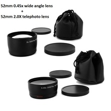 Buy 52MM 0.45x Wide Angle Lens&Macro lens+ Telephoto lens Nikon Cannon DSLR Cameras 52MM Lens Thread for $30.90 in AliExpress store