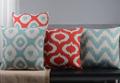 Custom made Red and pine green Pillow creative Decorative Throw Pillows soft Cotton Linen 45cmx 45cm