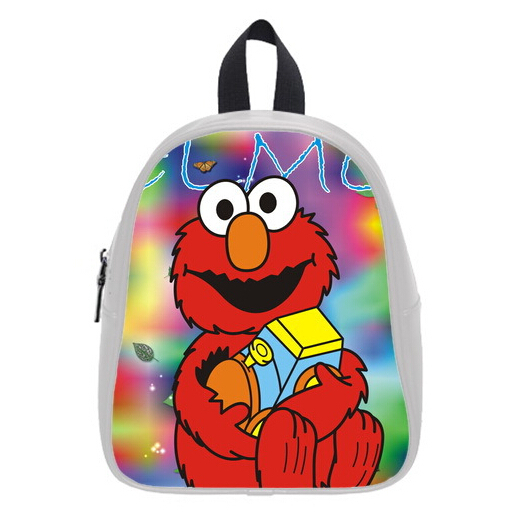 New Design Hot Sale Backpacks Custom Sesame Street Kid's School Bag For Boys And Girls Free Shipping PC-0939(China (Mainland))