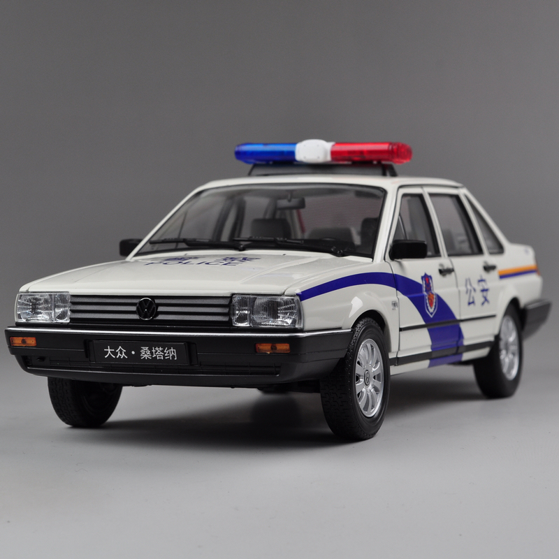 Car alloy model car wyly 1 : poson 18 santana model cars volkswagen police car gift classic(China (Mainland))