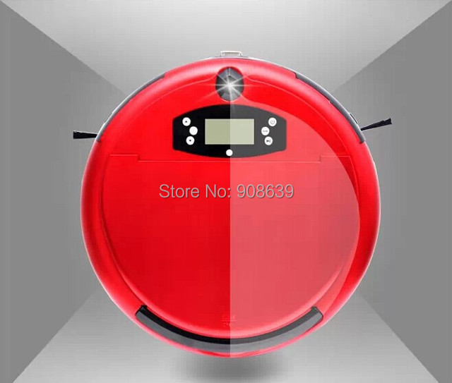 (Free Shipping for Russian Buyer)Voice Function A Vacuum Cleaner Robot With LCD,2 Side Brush,Self Recharge,UV,Time Set
