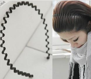 star general wavy hair bands headband - black
