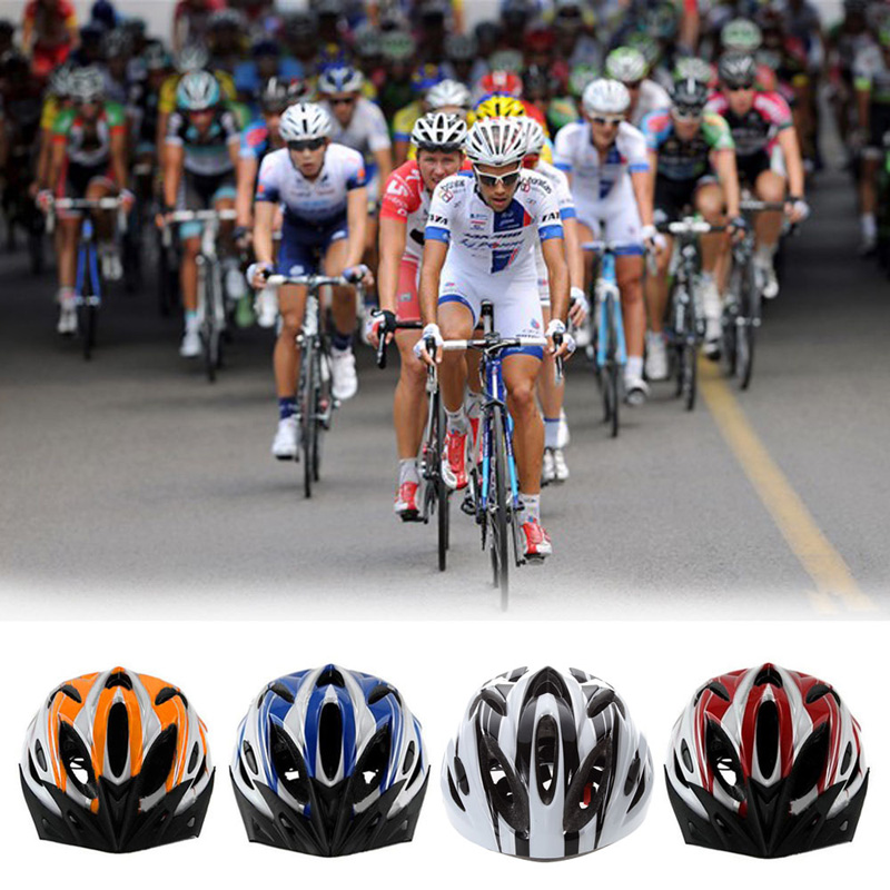 Good Quality MTB Road Cycling Adult Bike Bicycle 18 Channeled Vents Safety Helmet Four Colors Free Shipping(China (Mainland))