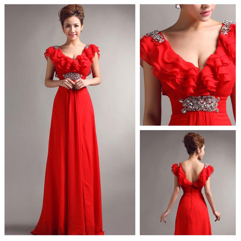 Платье из шифона вечернее