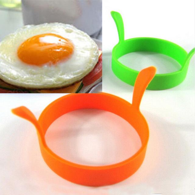Горячая 1 Шт. Случайный Цвет DIY Круглые Завтрак Формы Силиконовые Яйца Блин Приготовления Инструменты Кухонные Принадлежности