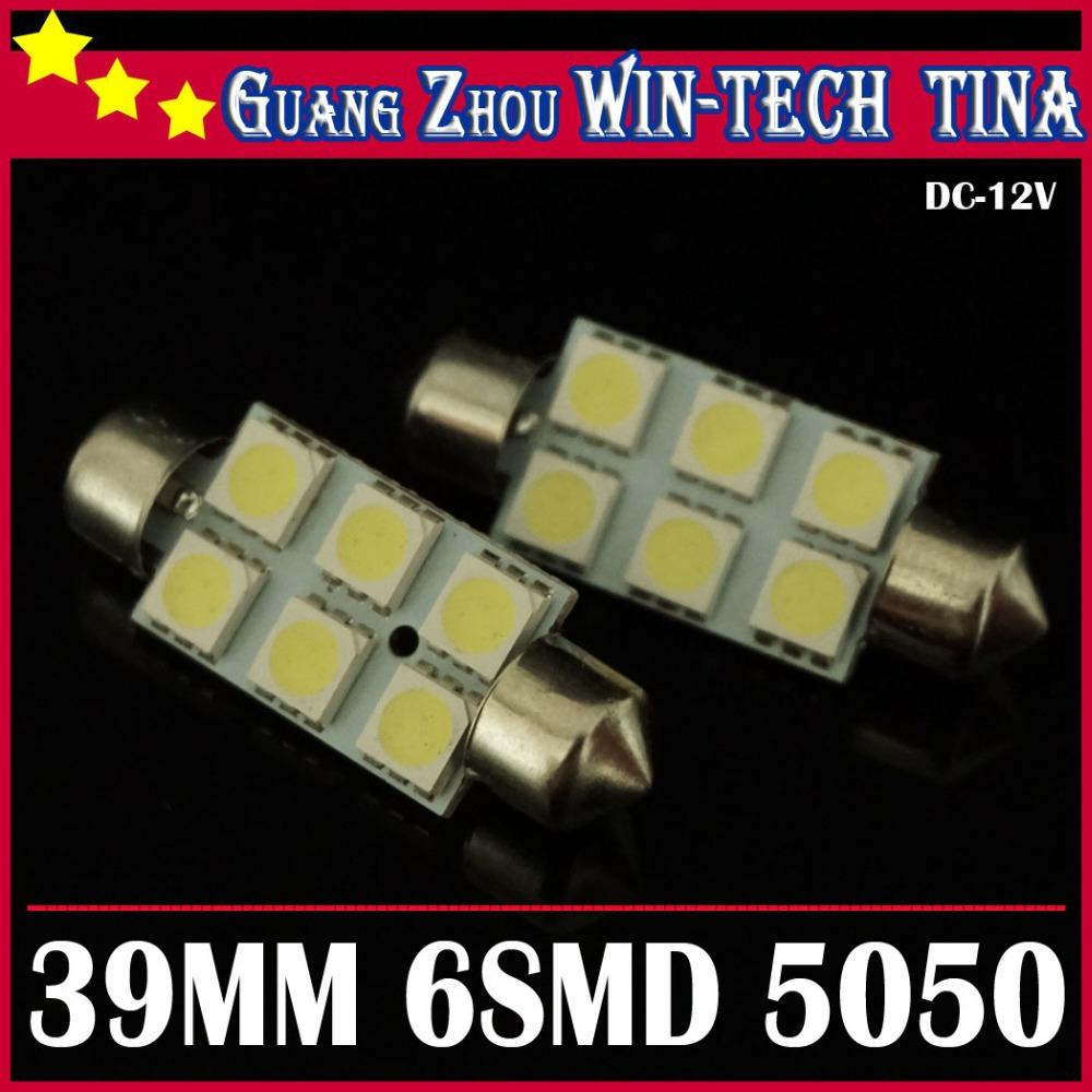 2014 new 10pcs/lot 39mm 6smd 5050 Festoon Dome LED Interior Light Bulbs Reading lights high power light leds lamp(China (Mainland))