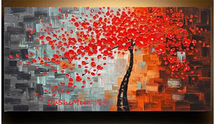Dipinto a mano quadri moderni su tela pittura a olio for Quadri moderni fiori dipinti a mano