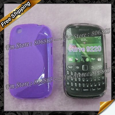 Wholesale 100pcs/lot  S Line Design TPU gel  case for blackberry curve 9220,via DHL Free Shipping