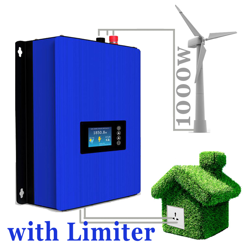 1000W Wind Power Grid Tie Inverter with Limiter / Dump Load Controller/Resistor for 3 Phase 24v 48v wind turbine generator(China (Mainland))