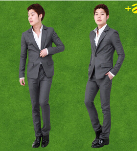 The most popular suit and mens suits with pants with S size and grey design which can make you look more handsome and elegant(China (Mainland))